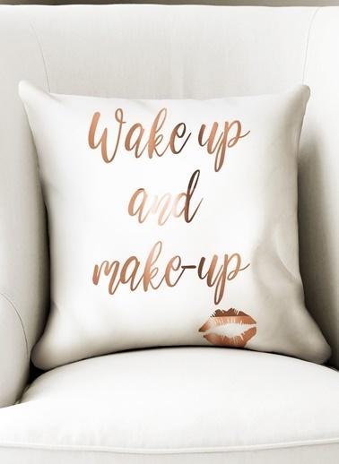 Lyn Home & Decor Bakır Wake Up Yastık Kılıfı Renkli